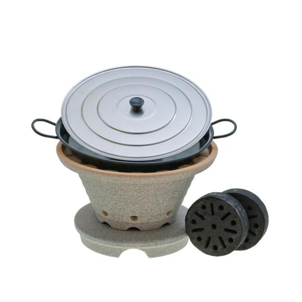 Bratfeuer-Set mit Untersatz