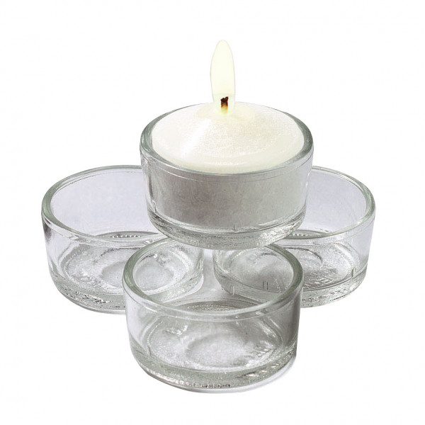 Teelichthalter aus Recyclingglas