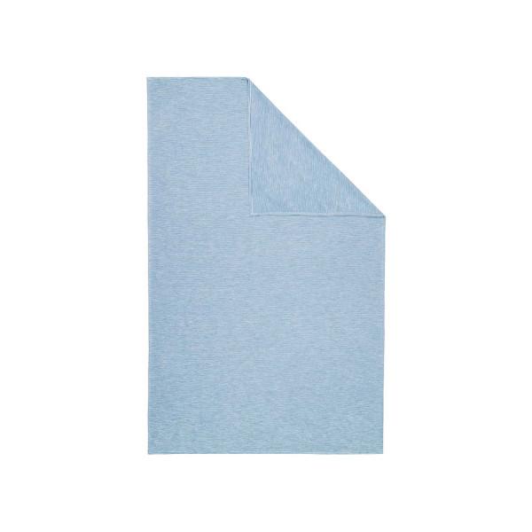 Wohndecke Streifen blau