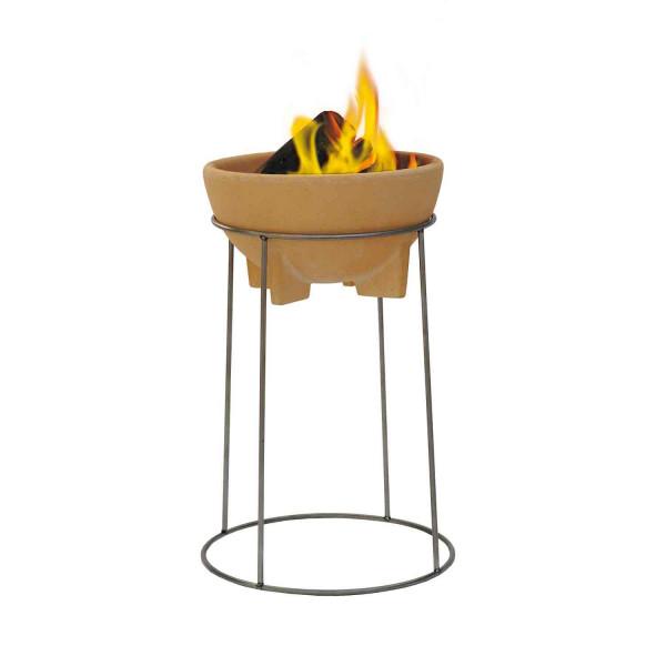 Feuerschale mit Ständer im Set