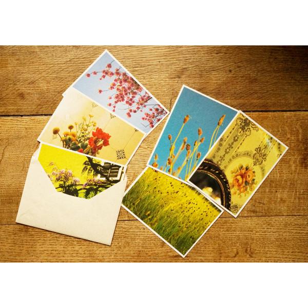 Graspapier-Karten FLORALIX